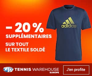 Promo vêtements tennis