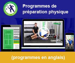 Programmes de préparation physique pour le tennis (en anglais)